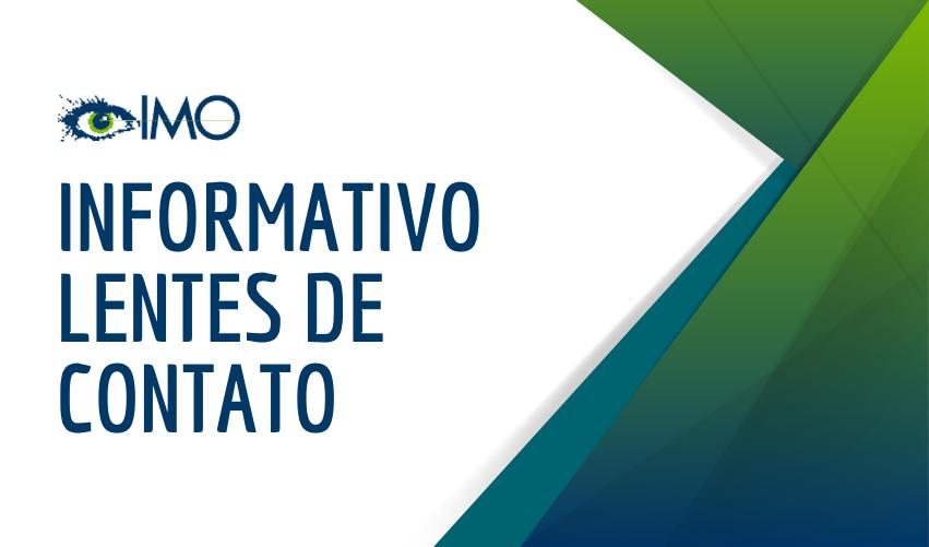Informativo LENTES DE CONTATO