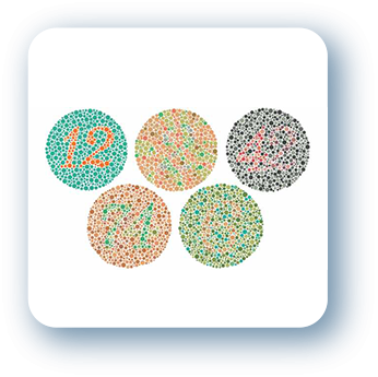 icone exames teste de ishihara